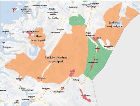 Saltfjellet-Svartisen nasjonalpark, nasjonalpark i Beiarn, Saltdal, Rana, Meløy og Rødøy kommune i Nordland.