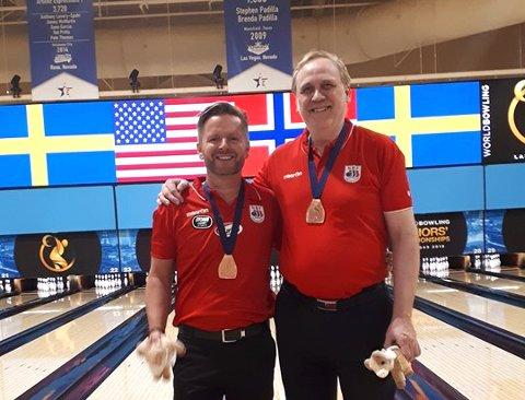 Tore Torgersen og Ingar Gabrielsen fikk bronsje i Las Vegas-VM.