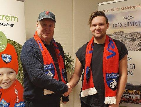 Trond Schjølberg tar over som hovedtrener for Værøy ILs seniorlag.