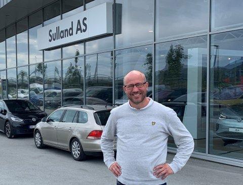 BRANSJEBYTTE: Henning Arnesen går fra sport til bil når han nå blir daglig leder i Sulland AS.