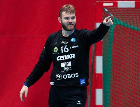 GOD: Sander Heieren spilte en meget god kamp i DHK-målet på Jæren mot Nærbø onsdag.