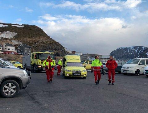 I går hadde Nordkapp Brann og Redning en samordnet øvelse med Ambulansetjenesten i Nordkapp.
