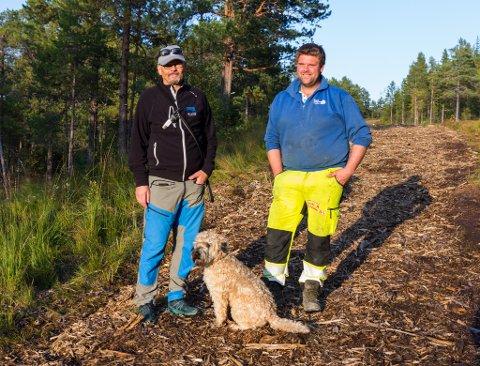 NØGDE: Norodd Støfring og Bjørn Eivind Årdal ser fram til å teste løypa når vinteren kjem.