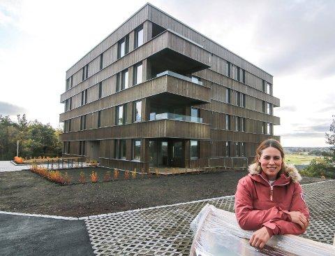 Inne til jul: Ann Elisabeth Stensrud kan flytte inn i hjørneleiligheten (nærmest) i andre etasje til jul. Hun er den første som benyttet Bostart hos OBOS og fikk innskuddsrabatt.