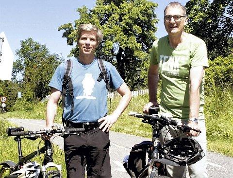 MEDVIND: MDG opplever kraftig medlemsvekst etter at FNs nye klimarapport ble offentliggjort. Svein-Erik Figved (t.v.) kan juble over nye medlemmer i Horten, som i neste omgang kan sende Harald Moskvil til tinget.