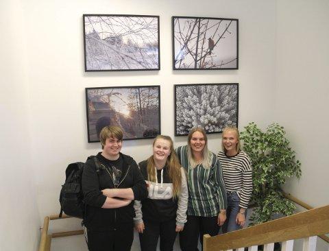 I TRAPPEOPPGANGEN: Bildene til Jan Heikki Sundkvist Helgeberg, Anne-Maren Torkildsrud, Edna Dehli og Malin Sætereie.bilder: kari Gjerstadberget