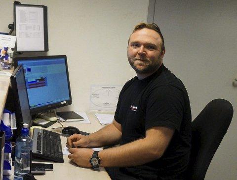 NYANSATT: Morten B. Kristiansen ble ansatt som ny verksmester hos Grua Auto AS i august.