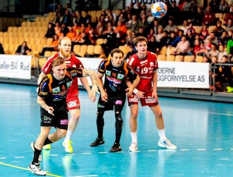 Simon Aulén og HTH tapte for Haslum i Nadderud Arena søndag kveld.