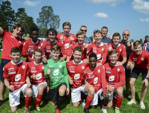 A-sluttspel: Denne gjengen, som speler for OFK G16 vann puljen sin i gruppespelet og tok seg til A-sluttspelet.Alle foto: Rune Helle