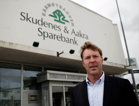Godt resultat: Banksjef i Skudenes & Aakra Sparebank, Alf Inge Flokketvedt, er fornøyd med årsregnskapet for 2016.