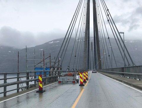 Helgelandsbrua Lysregulering på grunn av arbeid på brua søndag 9. juni 2019