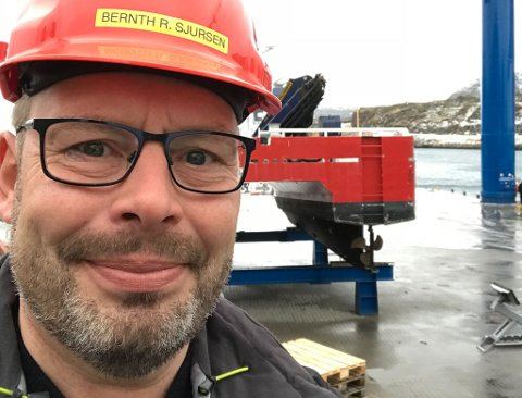 VOKSER: - Vi opplever positiv vekst i Havøysund, men mangler hus, sier daglig leder ved Havøysund Patentslipp Bernth Sjursen.