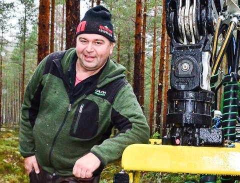 Jan Birger Holth er daglig leder og eier av Rømskog-bedriften Holth Skogsdrift AS.