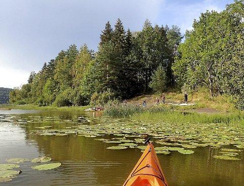 MYE BRUKT: Hillestadvannet er mye brukt til rekreasjon. Bildet er tatt i sommer. foto: kristin osvold