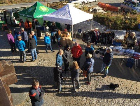 HØSTMARKED: På Lørdag er det marked i Øygardsgrend. Markedet åpnet klokken 10.00