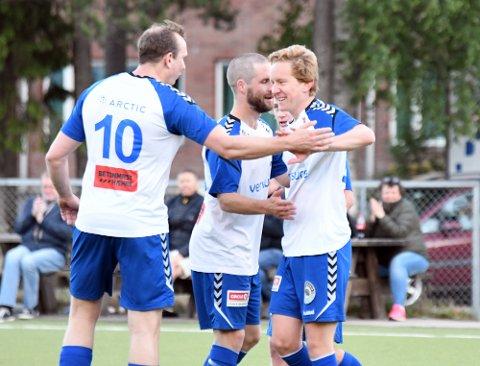 TO MÅL: Petter Kristiansen viste frem skuddfoten mer enn én gang mot Romsås, og stoppet på to scoringer.