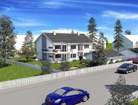 Firemannsbolig: En 3D-visualisering av den planlagte utbyggingen i Inges gate 6. Patek eiendom as