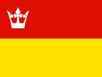 Et eksempel på hvordan et flagg for den nye regionen Vestfold og Telemark kan se ut