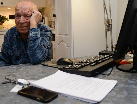 TRIST: – Det er trist at eldre skal bli håndtert som kasteballer, sier Erik Jakobsen (88), sterkt engasjert i spillet om Sønsterud Bofellesskap.