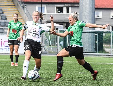SCORET LEDERMÅLET: Emilie Finnevolden sendte HBK i ledelse etter fem minutter, og scoret sitt andre for dagen på overtid.