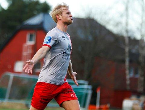 Helt sjef: Morten Bjørlo har scoret fire ganger på de siste fem kampene. Midtbanespilleren har utløpende kontrakt og er jaktet av flere klubber, blant andre Ull/Kisa.