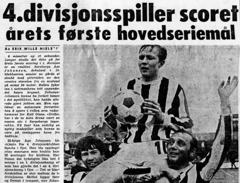 FLERE KLUBBER: Åge Johansen spilte i både Borgen og Sparta før han havnet på toppnivå i norsk fotball med SFK og senere FFK.