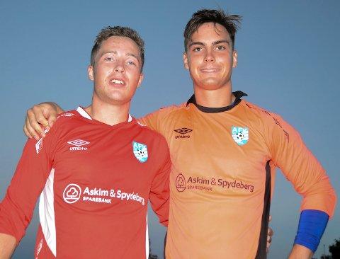 TILBAKE: Tvillingene Ståle (t.v.) og Eirik Sveberg Johansen er tilbake i moderklubben Spydeberg igjen. Dette bildet er fra tiden de to spilte i Askim FK.