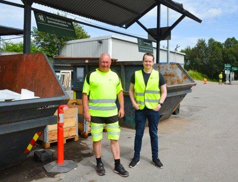 RØDMYR: Renovasjon i Grenland IKS sin avdelingsleder Espen Loraas, og prosjektleder Bjørn Gjersvik Fjellvang har målene klare for framtiden.