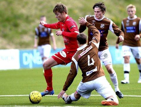 SCORET: Robin Hofer Dahl, her i aksjon mot Ørn i en tidligere kamp, utlignet på Notodden.
