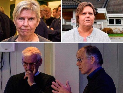 KOMMUNETOPPER: Rådmann Aslaug Dæhlen, Lisbet Kjøniksen, kommunalsjef Bjørn Bollum (t.v.) og økonomisjef Ivar Dahl. ARKIVBILDER