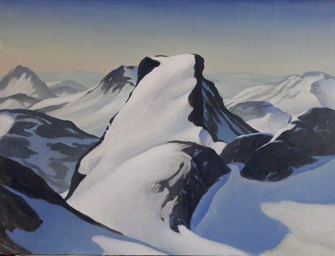 Flott: Leslie Ayres er dyktig til å få fram detaljer i fjellandskapene, mye av det fra Valdres og Jotunheimen.