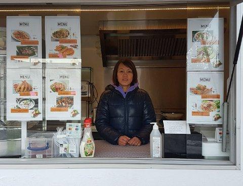 MOBIL: Med matvogna kan Marisa Taule vere ganske mobil. Planen er å kunne reise til festivalar og selje mat der, men som regel vil fast plassering vere utanfor Coop Prix på Byrkjelo.