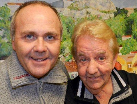 Kællær: Som herremenn kommer Atle Jensen (til venstre) og Tor Erik Gunstrøm til Engelsviken på søndag. Gunstrøm får dobbel støttekontakt etter et uhell i Tønsberg.