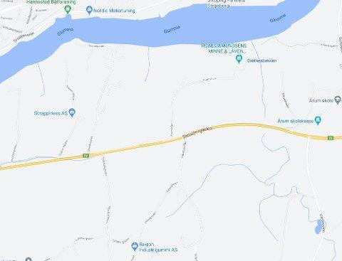 Ulykken skjedde i krysset Toftebergveien/Sarpsborgveien.