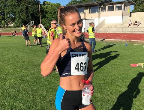 YES! Nora Kollerød Wold løp en solid 600 meter under et treningsstevne på Lisleby denne uken.