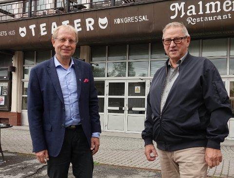 GLEDER SEG: Kulturhussjef Bjørnar Mikkelborg (t.v.) er både glad og ydmyk for initiativet fra Hans Gundersen. I oktober vil lokale artister og musikere entre scenen igjen.