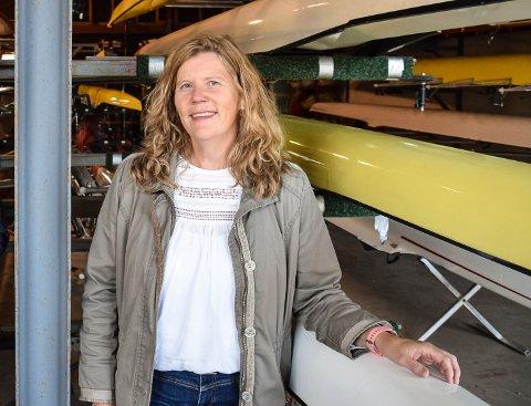 STYRELEDER: Aina Enstad i Horten roklubb er kjempefornøyd med de nye oppgraderingene som gjøres på huset.