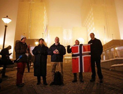 Den utflyttede Kongsvinger-mannnen Max Hermansen hadde tatt initiativet til demonstrasjonen under Pegida-navnet. Den gang samlet det seg.