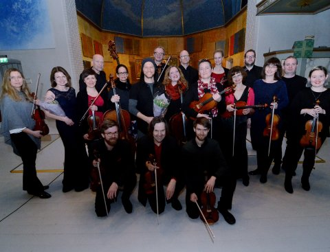 SINFONIETTA INNLANDET: Etter konserten «Orkester i bevegelse» i Lillehammer kirke i fjor.