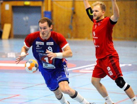Det ble en nervepirrende kamp da LFH 09 tapte med ett mål mot Kristiansand. Her er Kim Tajet Skaug i aksjon.