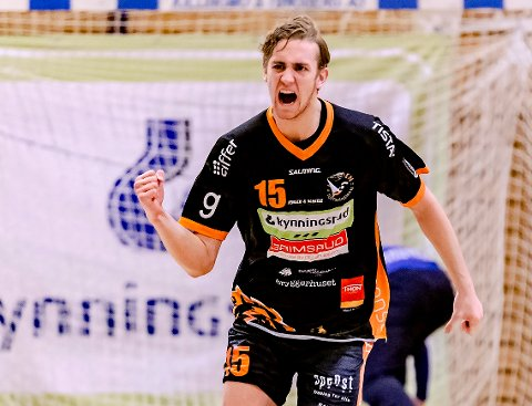 ENORM KAMP: Kristian Stranden herjet med Arendal, og bekreftet etterpå overfor HA at han spiller i utlandet neste sesong.