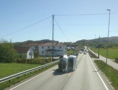 E 134: Ulykke på E 134 i Vindafjord torsdag ettermiddag.