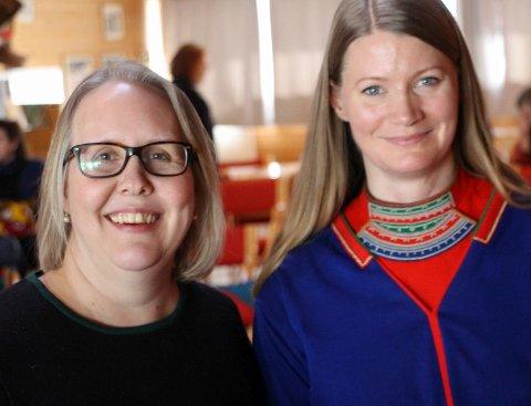 Josefina Skerk, daglig leder (t.h) og Inga-Lill Sundset (styreleder) søker etter en ny fagleder for å drifte prosjekt og aktiviteter rundt samisk språk.