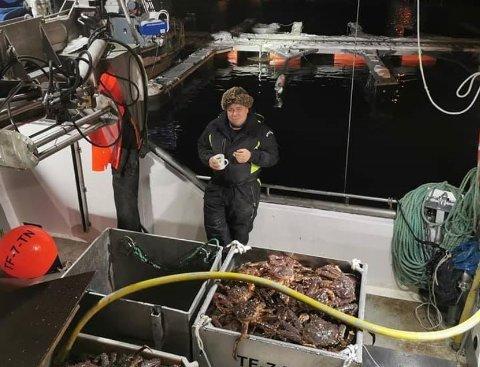 FORNØYD: Morten Blien blir fisker på heltid, og er fornøyd med det.
