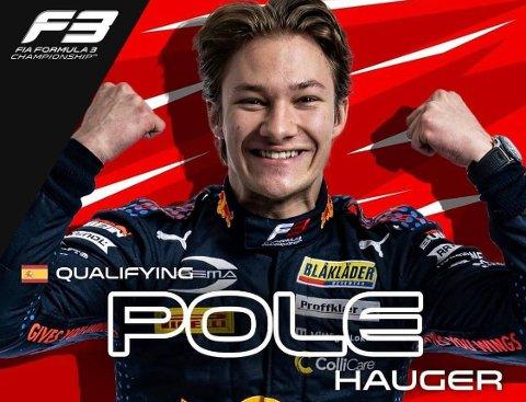 TOK FØRSTE STIKK: Med seier i kvalifiseringen under første runde i årets Formel 3-sesong, fikk Dennis Hauger nettopp den oppturen han håpet på etter fjorårssesongen.