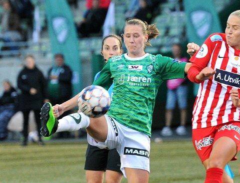 Elisabeth Terland satte inn 0-1 mot Lyn. Her fra forrige runde hjemme mot Avaldsnes.