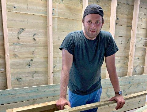 """LEDER: Ole Johan Morken er daglig leder for """"Fjellkompaniet"""", sportsbutikken som åpner på Vegglisenteret i løpet av sommeren."""