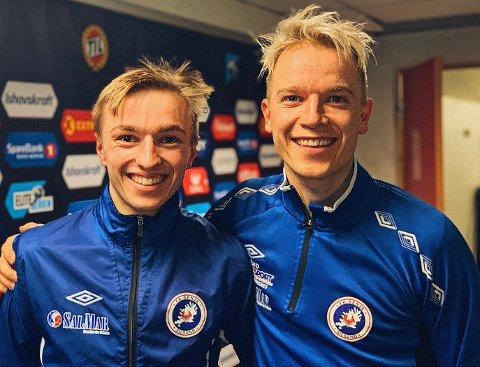 SAMMEN IGJEN: Henrik Johnsgård (tv) spilte hele kampen mot TIL på Alfheim. Storebror Christer sikret trøstemålet i 1-4-tapet.