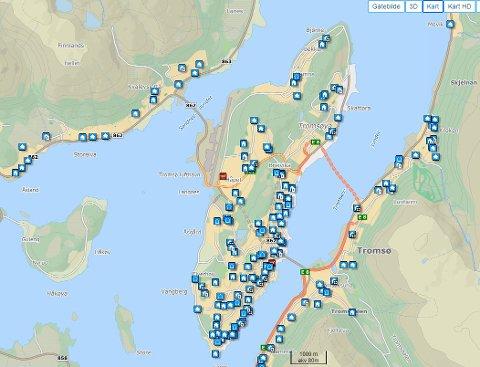 Det er rekordmange boliger til salgs i Tromsø, men mange av dem har ligget svært lenge.