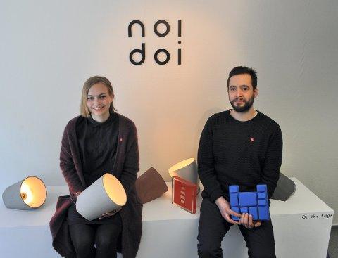 Designparet: Kathrine Lønstad og Cosmin Cioroiu fra Gjøvik, er på vei til London for å være en del av «100 % Norway 2015»-utstillingen. Arkivbilde